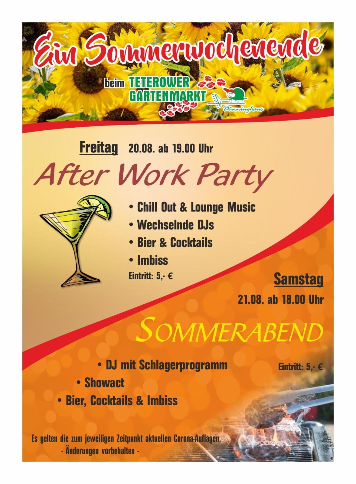After Work Party - Sommerabend 21.08.2021